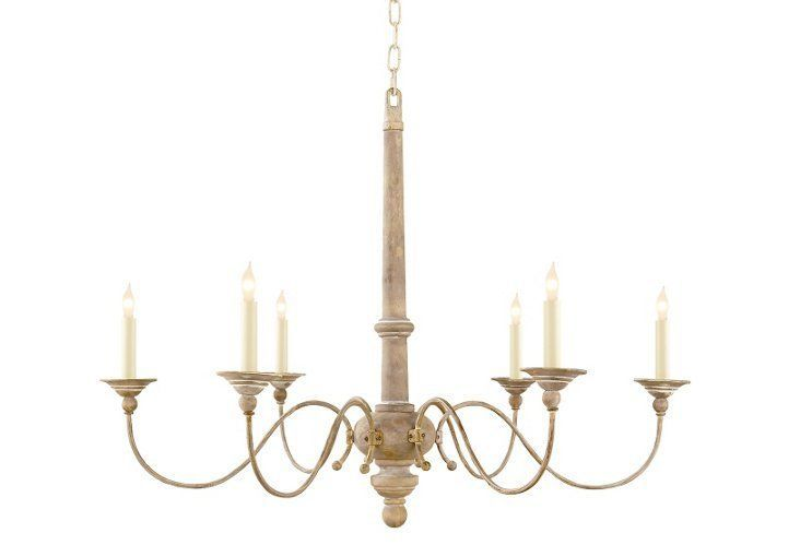 Country Chandelier, Belgian White | One Kings Lane