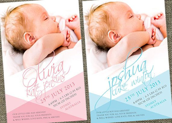 Autograph baby birth announcement photo cards. by SladeStudios, $16.00