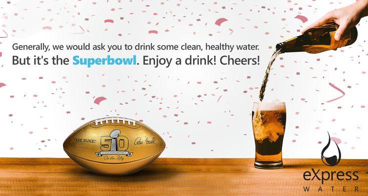 Happy Super Bowl Sunday! #SuperBowl www.ExpressWater.com
