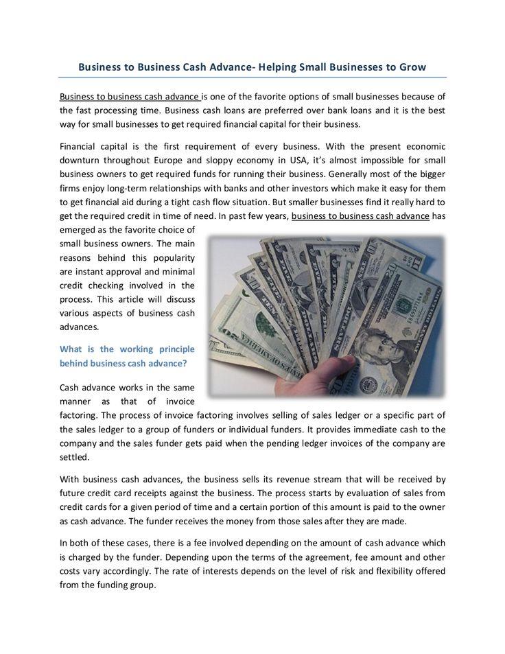 Business Cash Advance Working Capital by Richard Bonomo via - business credit card agreement