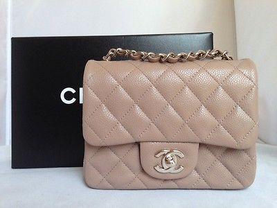 26cd5341a849 New 2014 chanel dark beige taupe caviar mini square classic bag rare sold  out | Chanel Handbags | Bags, Chanel mini square, Chanel mini