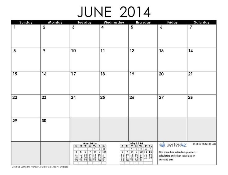 Free Calendar Template 2014 School Ideas Pinterest