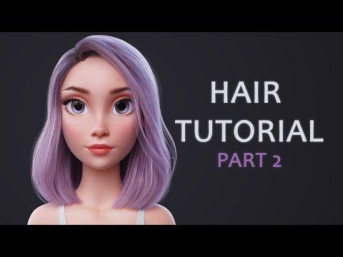 Blender Hair Tutorial Part 2 (rendering hair with Blender Cycles) - YouTube