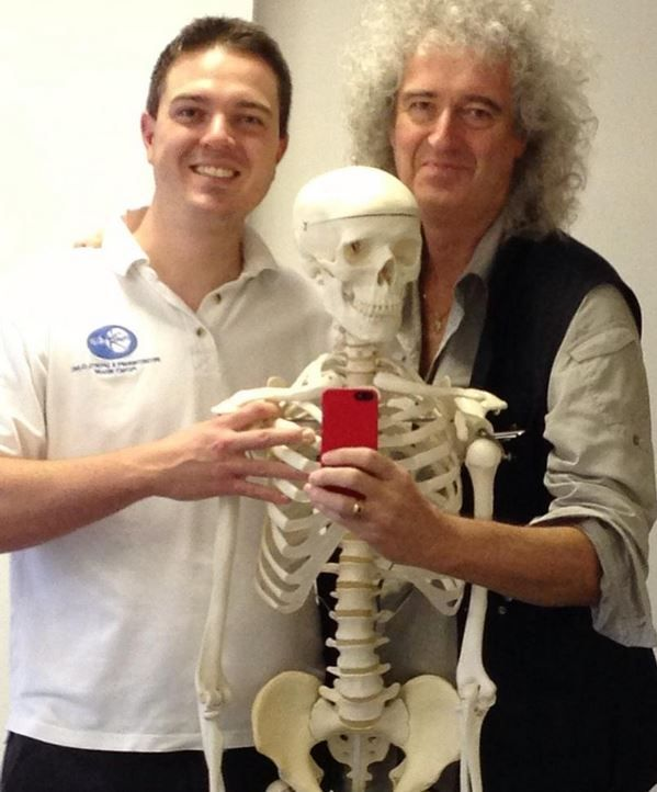 Brian With His Son Jimmy Queen Brian May Queen