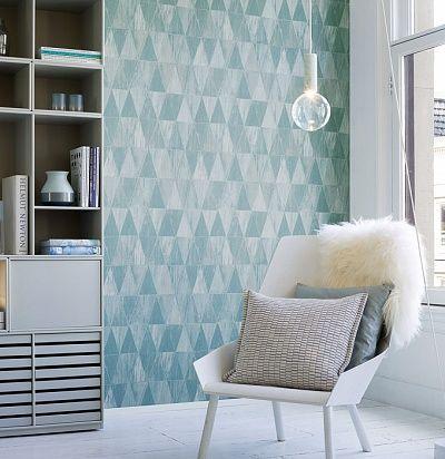 Обои голубые геометрические 39061 Hookedonwalls 39061– купить по доступной цене в интернет-магазине Ампир Декор