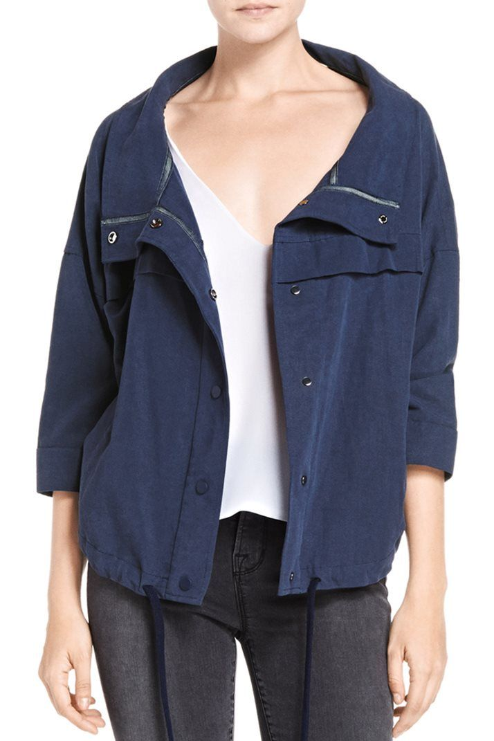 In a lightweight linen, this J BRAND Bapsi zip up jacket in Duke exudes modern ease. #StylishEscapes