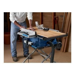 Ryobi, 10 in. Table Saw with Wheeled Stand, RTS31 at The Home Depot - Mobile