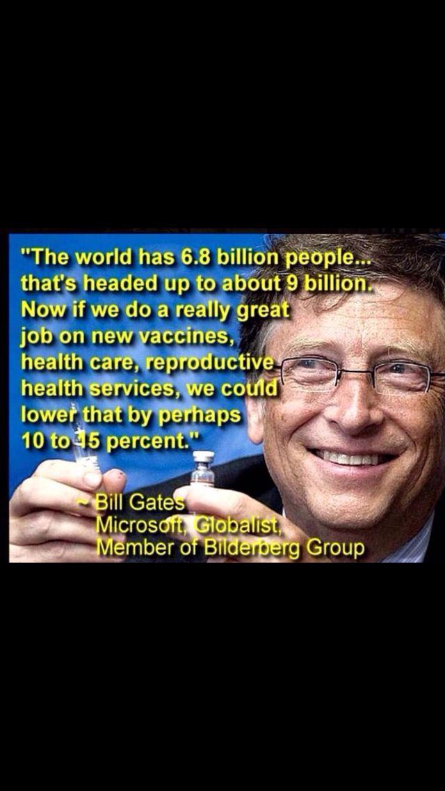 Bill Gates eugenics puppet master