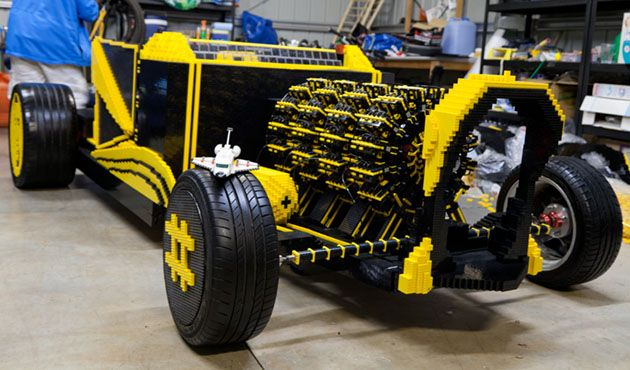 Drivable 500,000 piece Lego car runs on compressed air, insanity (video)