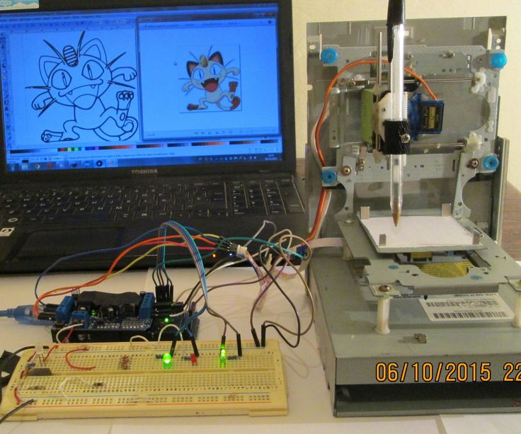 In this project I will show you how to easily build your own low-cost Arduino Mini CNC Plotter!For X and Y axis we will use stepper motors and rails from two dvd/cd roms! Printing area will be max 4x4cm.