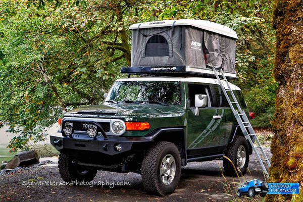 Maggiolina Grand Tour Pop Up Tent For Fj Cruiser Travel