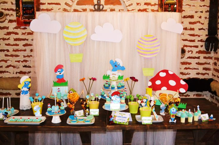 The Smurfs Dessert Table