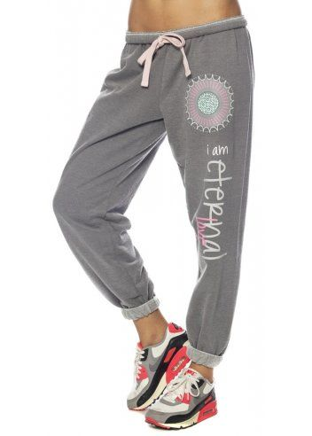 Shop Peace Love World I Am Eternal Chrome Pants Designer Desirables These Peace Love World I Am Eternal Love Joggers Are The Perfect Off Duty Staple