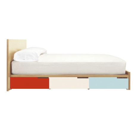Modern platform storage bed / blu dot