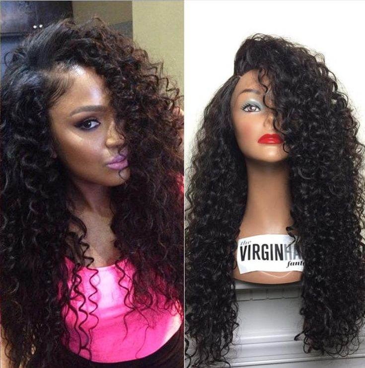 Glueless Kinky Curly Full Lace Front Wig For Black Women