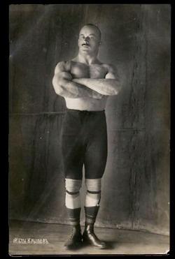 Russian Strongman Pyotr Krylov, King of Weights.