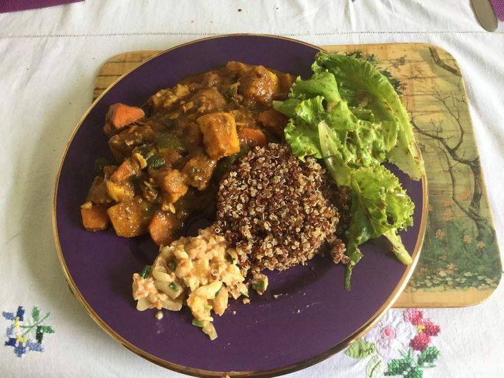 Le curry de légumes végétarien