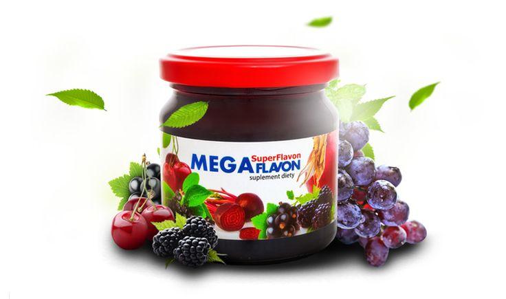 Mega Flavon - suplement ze skondensowanych owoców i warzyw z dodatkiem żeńszenia