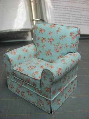 How to make  upholster a mini chair  so realistic Dollhouse