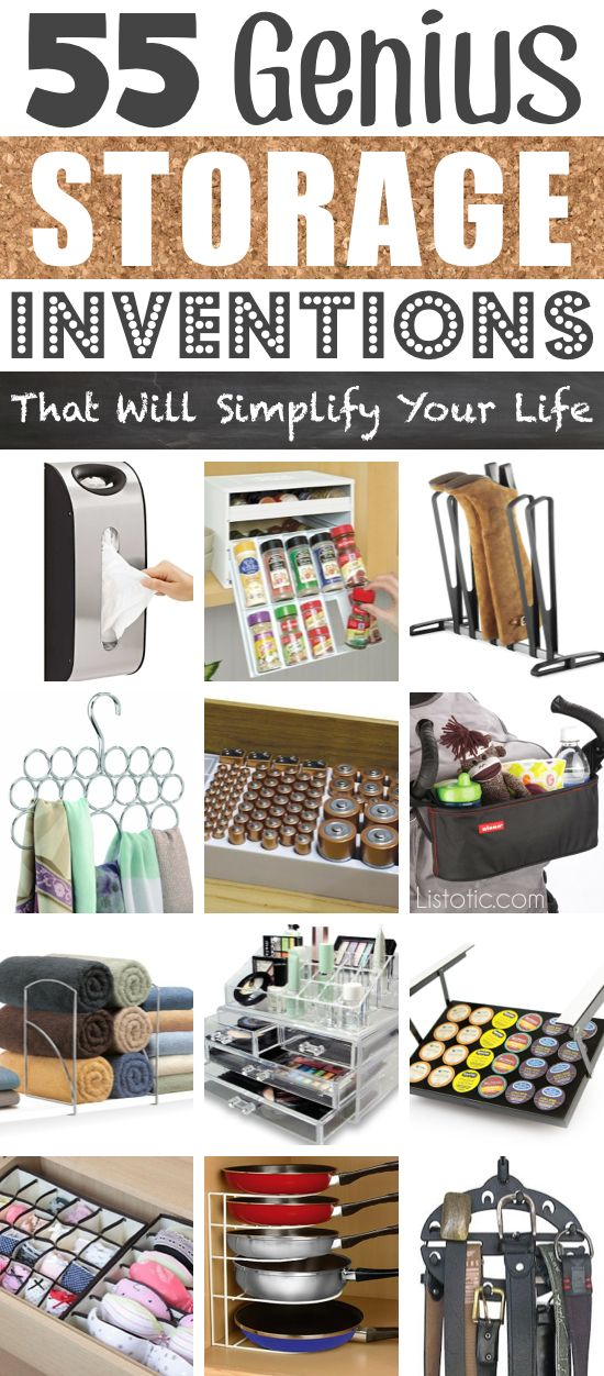 A ton of awesome organization ideas for the home (car too!). A lot of these are really clever storage solutions for small spaces. | Listotic.com