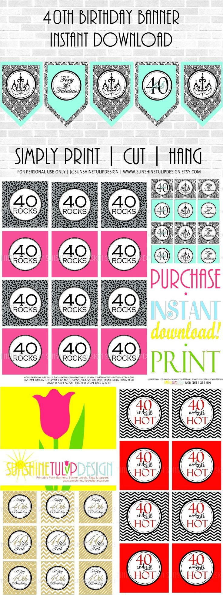 108 best 40 and fabulous birthday ideas images on pinterest