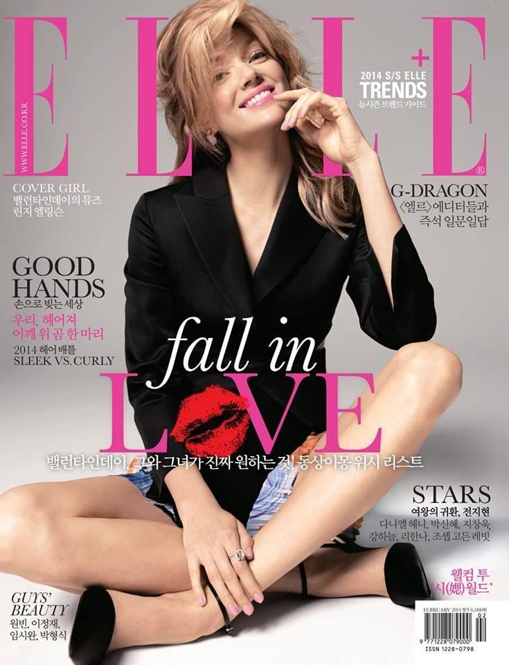 Lindsay Ellingson - Elle Magazine Cover [ North - South Korea] (February 2014)