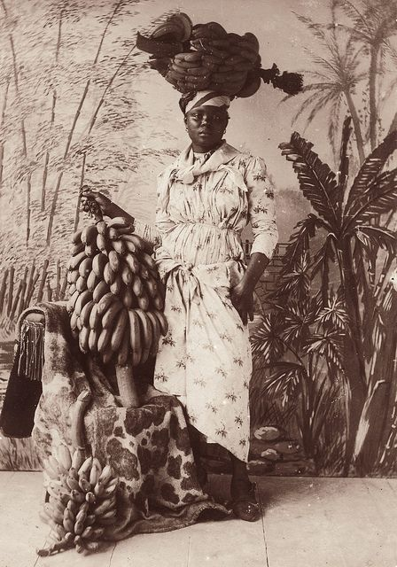 Banana Vendor, Martinique, ca 1885