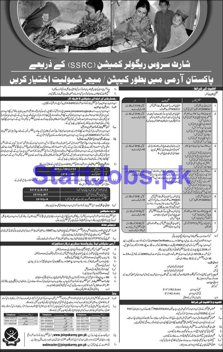 Join Pak Army Jobs as Captain & Major Through SSRC 2018 Apply Online [1300+ Vacancies]