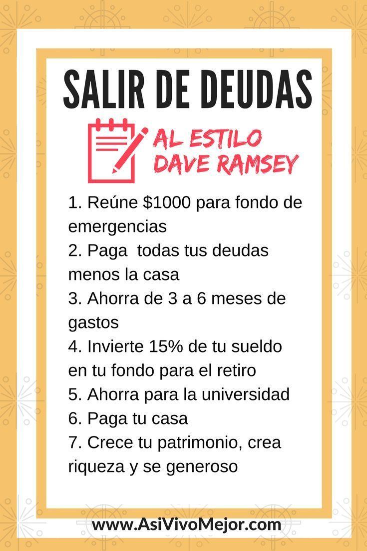 Est�s listo para salir de #deudas y darle un giro de 180 grados a tu vida? Aprende c�mo #vivirsindeudas estilo Dave Ramsey en este episodio de #AsiVivoMejor #Podcast #finanzaspersonales #latinos #espanol #dinero #daveramsey #finanzas