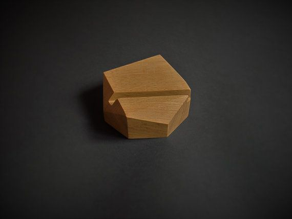 iPad stand - Tablet station - Tablet geometric wooden stand