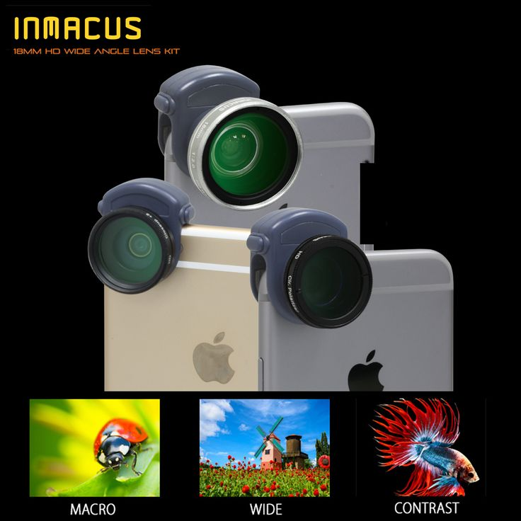 Inmacus 18mm HD Wide Lens & Filter Kit for iPhone 6 and 6 PLUS