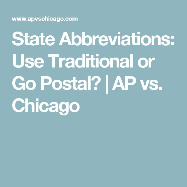 State abbreviations ap style