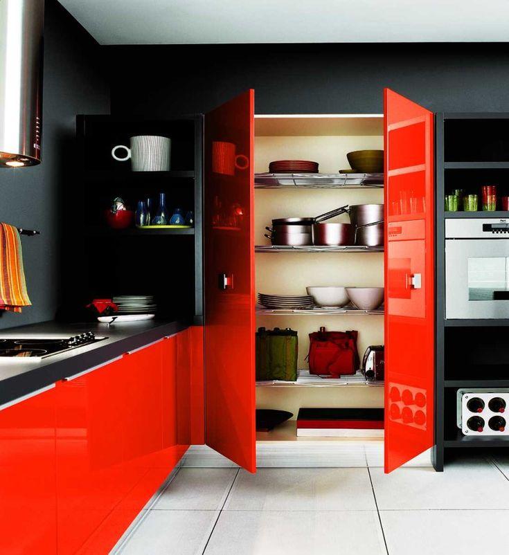 Die besten 25+ Rote küchenschränke Ideen auf Pinterest Rot - rote kuche gelbe wand