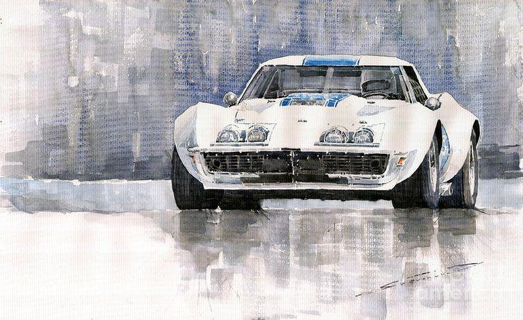 Chevrolet Corvette C3 Painting  - Chevrolet Corvette C3 Fine Art Print
