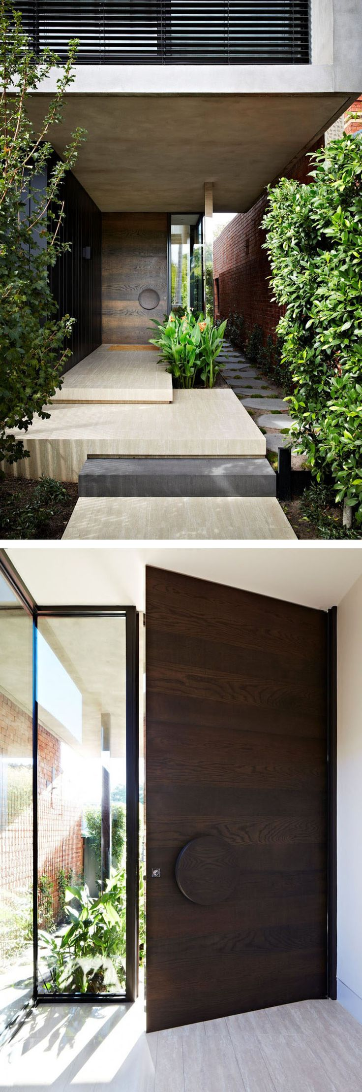 Front Door Idea – Add an oversized handle to draw attention to your front door