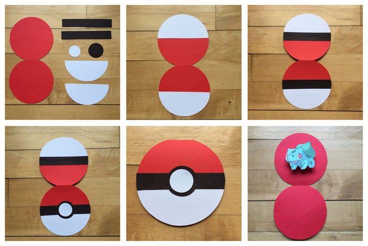 Easy DIY: Pokeball Invitations   Celebrate the Big & Small