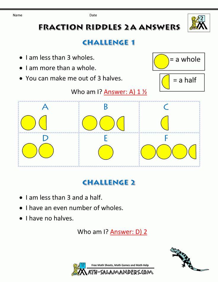 Fraction Worksheets For Grade 3 To Download. Fraction