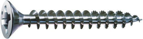 Spax 4101010350321 6-by-1-1/4-Inch Flat Head Construction Screw, Zinc, 35-Pack by Spax. $5.43. From the Manufacturer                SPAX construction screws can be used for multiple jobs. They can be used in wood, masonry, sheet metal, plastic, particle board, drywall. They are designed for easy driving without pre-drilling and superb tear out resistance. These screws are manufactured by ABC, one of the world's oldest and largest manufacturer of fasteners.