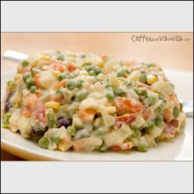 Polish Vegetable Salad. Salata jarzynowa. Recipe