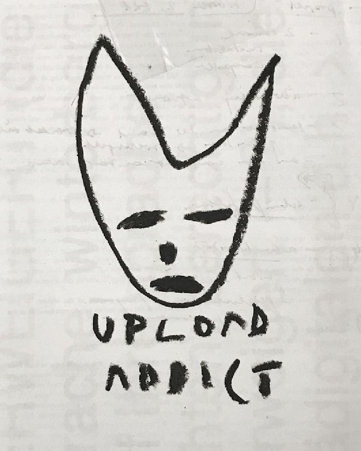 Upload addict. Oil on printed paper.