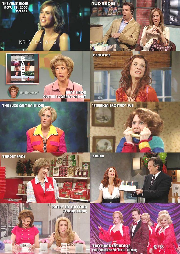 Kristen Wiig SNL characters. Target lady being my fav!!