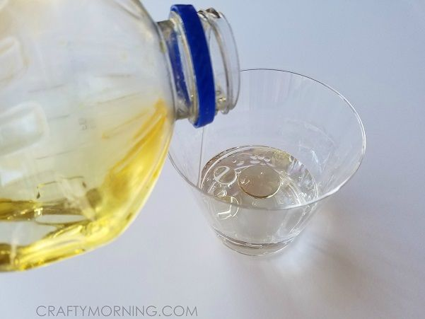 Supplies Needed: Food coloring Oil Hard boiled eggs Cups Water Spoon Start by putting about an inch of water in a cup and adding your desired color with food coloring (about 6-8 drops). Then add 1 TBSP of oil (can use any – vegetable, olive, canola etc.) Drop in your egg, stir with the spoon …