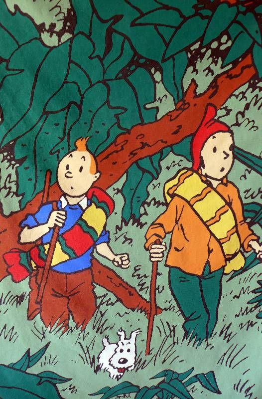 Tintin fabrics - http://www.handmadeandvintage.co.uk/handmadeandvintageshop/cat_337407-Vintage-Fabrics.html