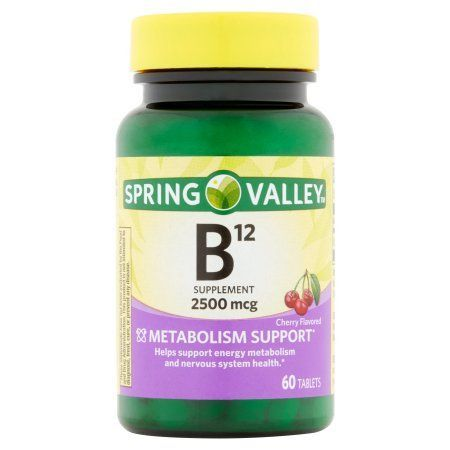 Spring Valley Sublingual B12 Microlozenges, 2500mcg, 60 ct