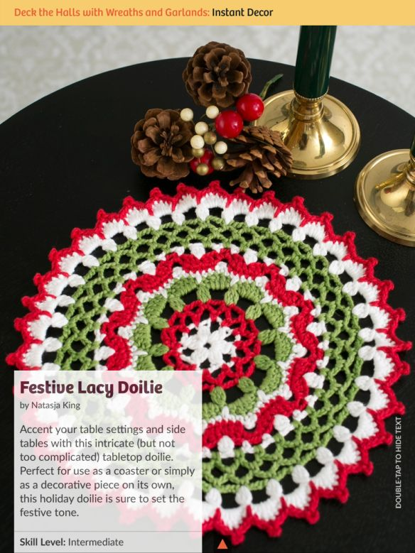 I Like Crochet Festive lace doilie. Perfect for christmas.