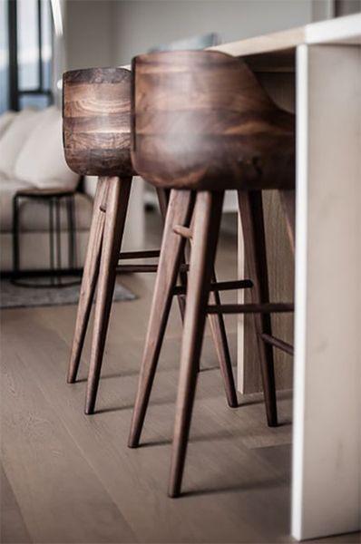 wooden stools for kitchen design