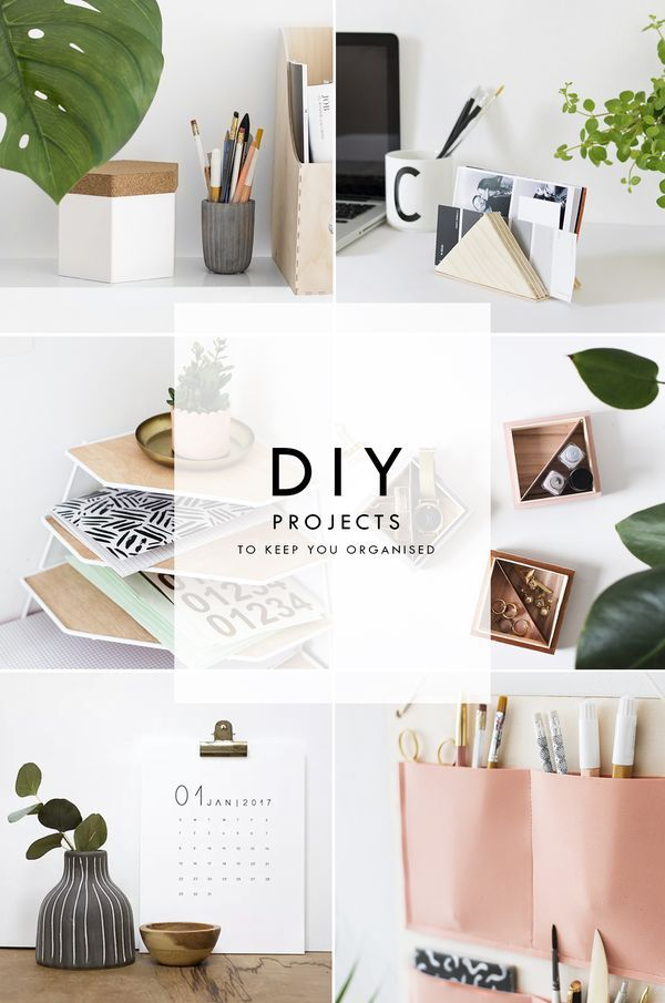 DIY Ways To Get Organised for the home or office