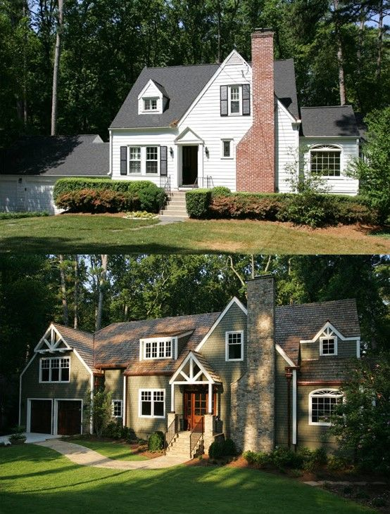 exterior renovation before and after brick exterior makeover and home