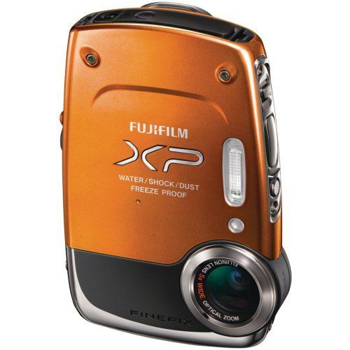 Fujifilm FinePix XP20 Orange 14 MP Digital Camera with 5x Optical Zoom - Orange by Fujifilm. $149.00. The FinePix XP20 offers a rugged and highly featured compact camera that will ensure outdoor loving photographers or adventure sports enthusiasts are well catered for.  FinePix XP20 features 14 Megapixel resolution with an impressive 5 times wide angle optical zoom with optical image stabilization to achieve excellent image quality in any condition.  The XP20 i...