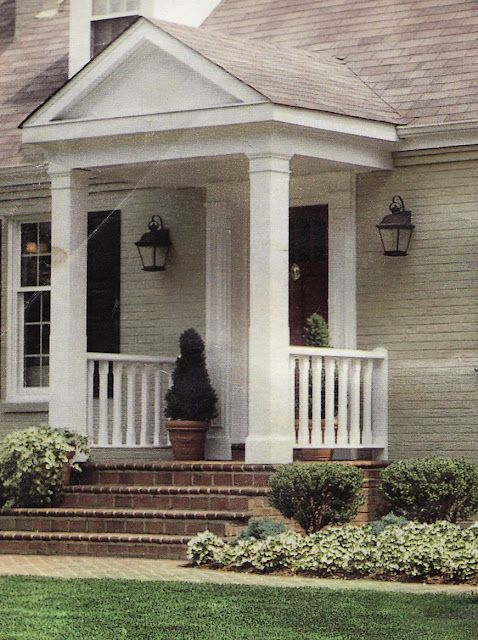 This is the type of Portico I want but with stone veneer columns.
